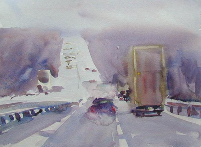 Malerei, Autobahn