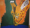 Wasser, Bunt, Giraffe, Malerei