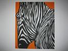 Streifen, Zebra, Orange, Malerei