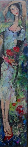 Rot, Blau, Pumps, Frauenfigur, Grün, Violett
