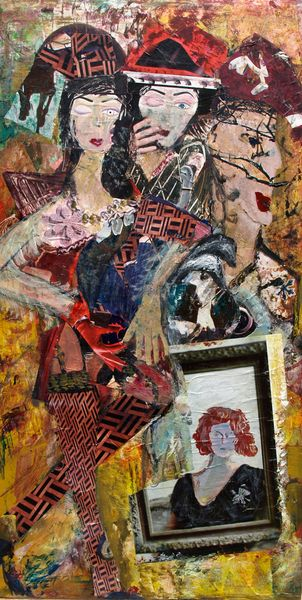 Drei figuren, Malerei, Rouge