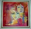Kopf, Rot, Frau, Portrait