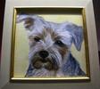 Hund, Hundekopf, Portrait, Malerei