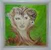 Frau, Kopf, Portrait, Schnecke