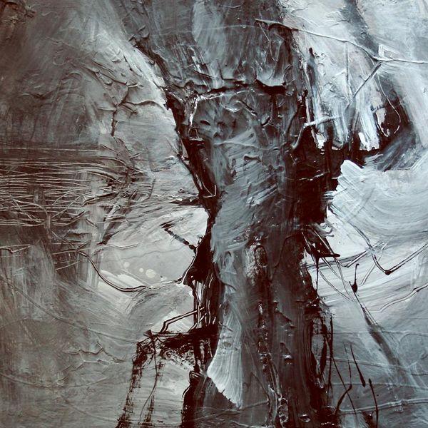 Relief, Düster, Intuition, Acrylmalerei, Malerei, Abstrakt