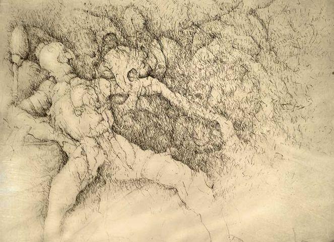 Traumwelt, Federzeichnung, Realität, Zeichnungen, Surreal,