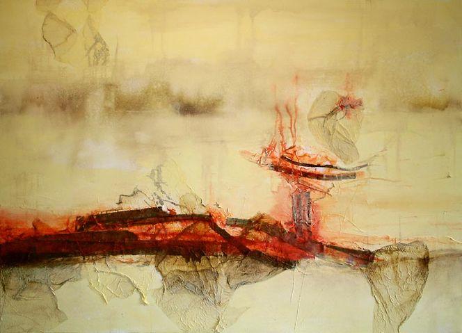 Hitze, Acrylmalerei, Heide, Traum, Intuition, Maschine