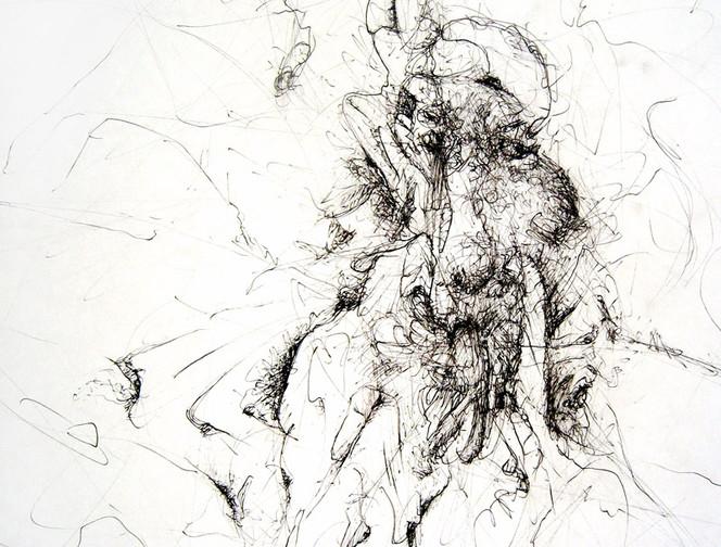 Feder, Tusche, Verdichtung, Zeichnung, Linie, Zeichnungen