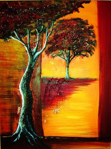 Trauer, Rot, Baum, Gefühl, Gelb, Malerei