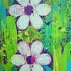 Weiß, Abstrakt, Blumen, Grün