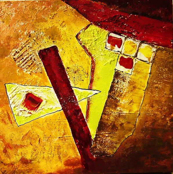 Gelb, Abstrakt, Feld, Braun, Rot, Wärme