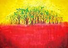 Horizont, Rot, Baum, Gelb
