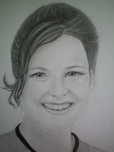 Portrait, Bleistiftzeichnung, Frau, Gesicht, Malerei, Menschen