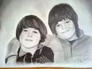 Bleistiftzeichnung, Portrait, Junge, Zeichnung
