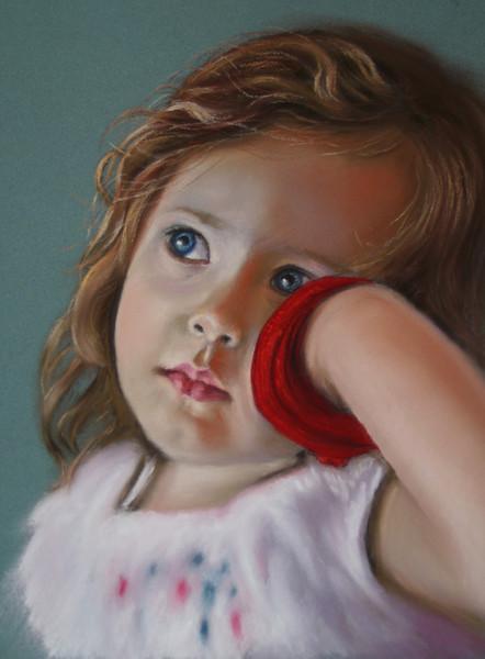 Kinderportrait, Pastellmalerei, Portrait, Malerei