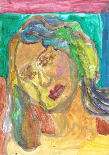 Frau, Portrait, Ölmalerei, Malerei, Menschen