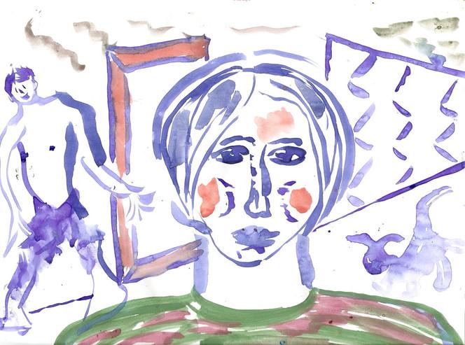 Aquarellmalerei, Zeichnung, Malerei, Menschen, Mann