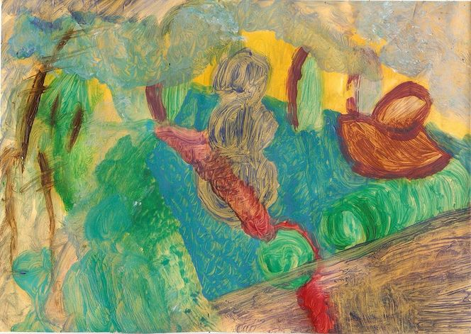 Freie malerei, See, Malerei, Tag