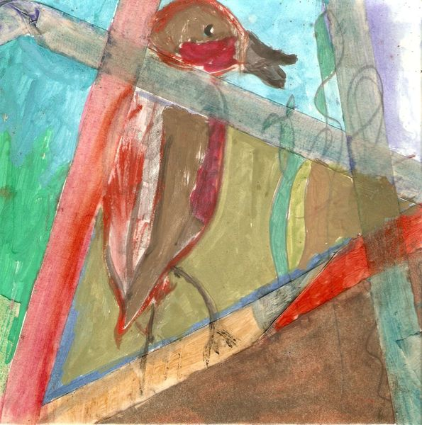 Vogel, Frei figurative malerei, Malerei, Mixed media,
