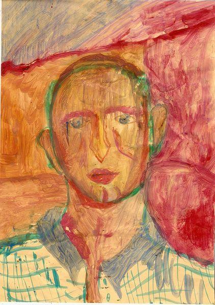 Frei figurative malerei, Mann, Malerei, Menschen