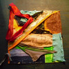 Materialbilder, Mixed media, Plastik, Meer
