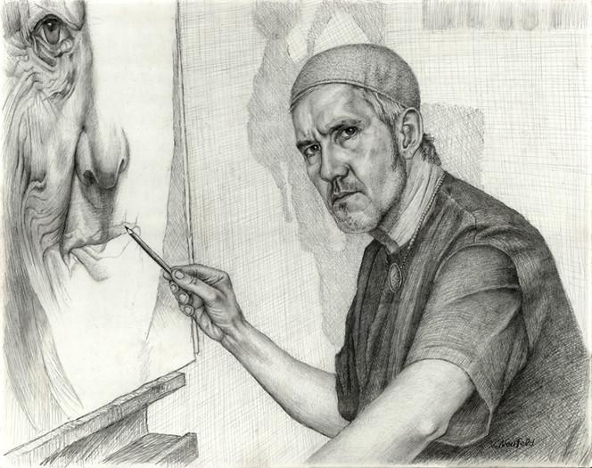 Bleistiftzeichnung, Portrait, Zeichnung, Elzer, Malerei, Zeichnungen