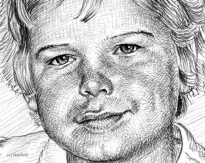 Portrait, Zeichnung, Schraffurtechnik, Bleistiftzeichnung, Zeichnungen,