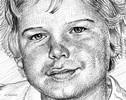 Bleistiftzeichnung, Portrait, Zeichnung, Schraffurtechnik