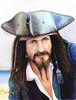 Aquarellmalerei, Pirat, Portrait, Freibeuter