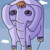 Luftballon, Elefant, Traurig, Dick