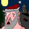 Weihnachten, Nacht, Mond, Weihnachtsmann