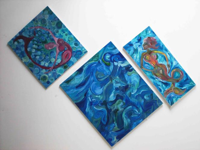 Meer, Malerei, Abstrakt