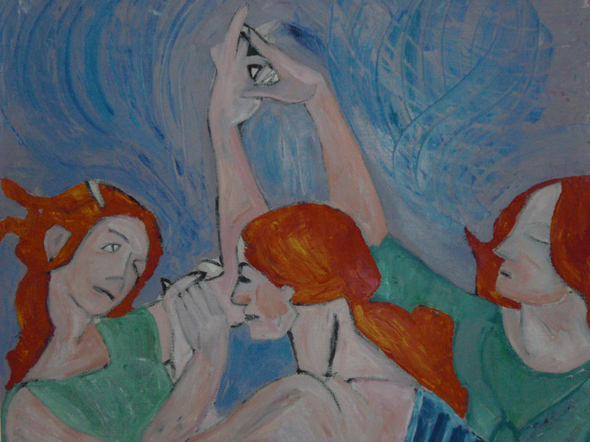 Cruz, Schwestern, Frau, Tanz, Italien, Botticelli