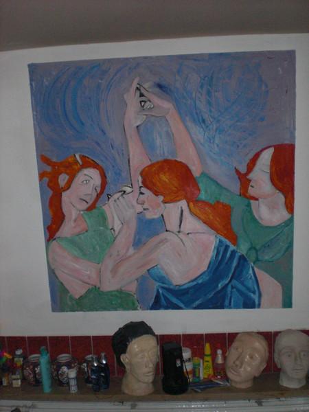 Frau, Schwestern, Botticelli, Tanz, Malerei, Menschen
