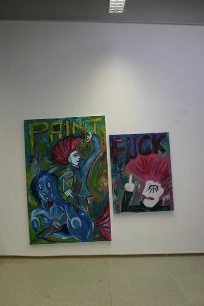 Cruz, Malerei, Punk, Abstrakt,