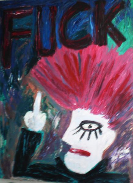 Punker, Cruz, Punk, Malerei, Abstrakt,