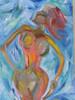 Marmaid, Meerjungfrau, Malerei, Abstrakt
