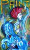 Cruz, Pferde, Punk, Blau