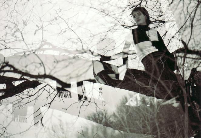 Doppelt, Winter, Menschen, Schwarz weiß, Natur, Wald