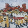 Acrylmalerei, Alhambra, Abstrakt, Malerei