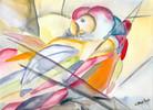 Papagei, Malerei