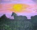 Acrylmalerei, Malen, Pferde, Fantasie