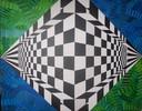 Perspektive, Raute, Acrylmalerei, Surreal