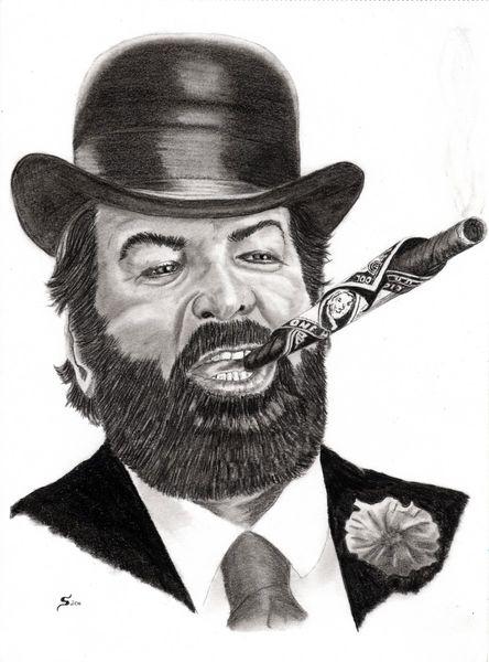 Kohlezeichnung, Zeichenstift nero fetthaltig, Portrait, Bud spencer, Bleistiftzeichnung, Zeichnungen
