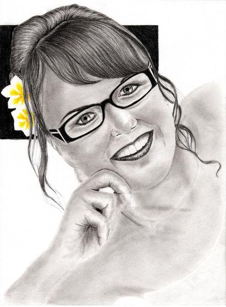 Blumen, Portrait, Bleistiftzeichnung, Frau, Kohlezeichnung, Zeichnungen