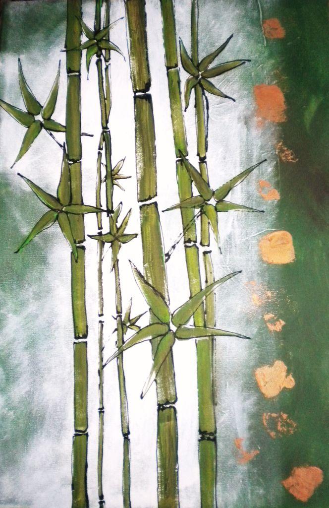 bambus bild kunst von elke p bei kunstnet. Black Bedroom Furniture Sets. Home Design Ideas
