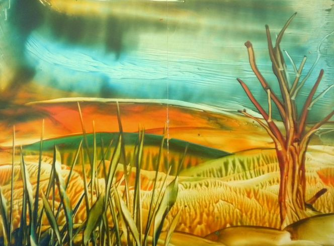 Leben, Landschaft, Encaustic fantasy, Natur, Malerei