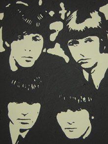 Beatles, Pop, Portrait, Acrylmalerei, Malerei,