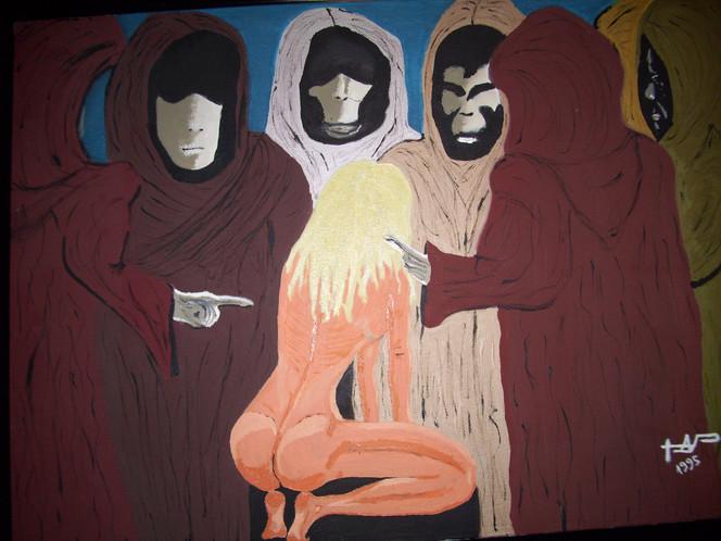 Verurteilung, Furcht, Moralapostel, Akt, Tribunal, Angst