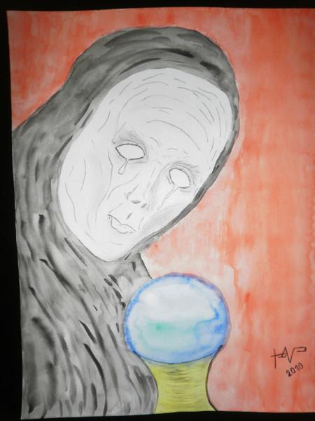 Schmerz, Aquarellmalerei, Angst, Furcht, Leid, Tränen